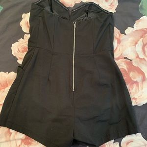 H&M Dresses - H&M Strapless Black Romper (with pockets)